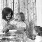 JFK's Parakeets, Bluebell and Marybelle