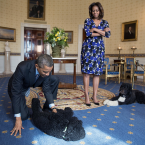 First Lady Lets Kids Know How Much She Loves Bo and Sunny